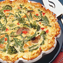 Turkey-Vegetable Hash Brown Quiche